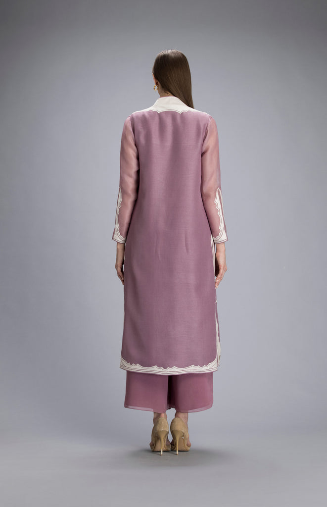 Mandere Dusty Lilac Jacket Set in Kota