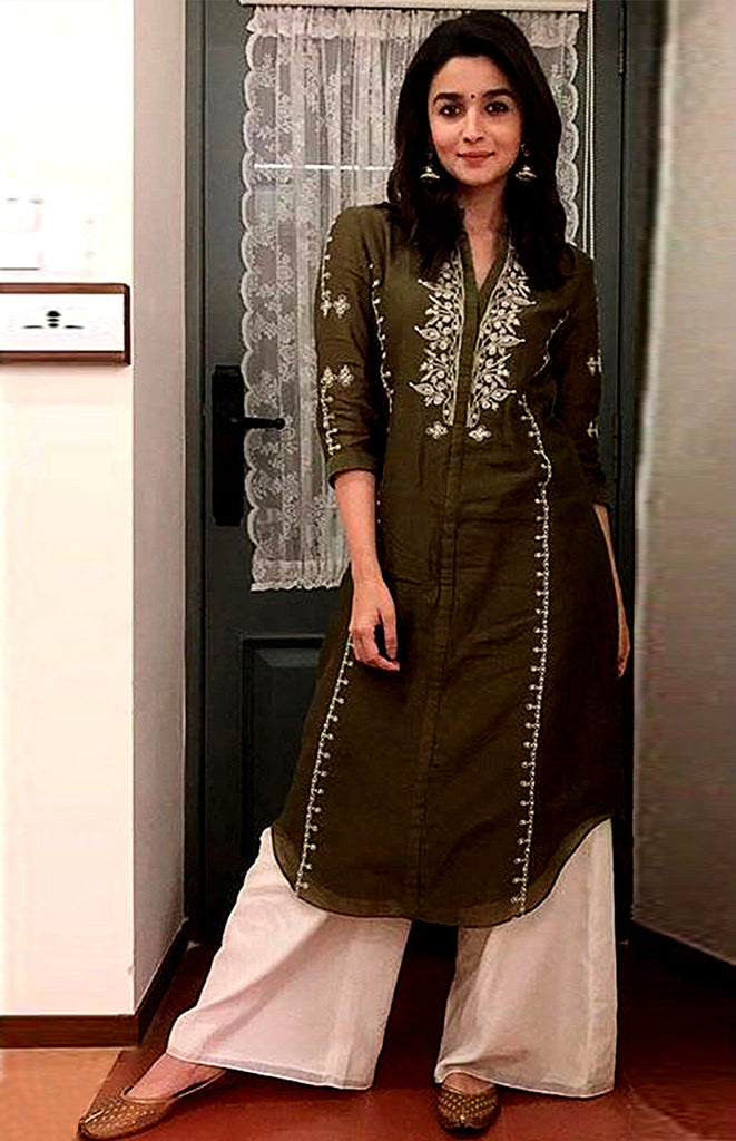 Alia in Olive Tunic