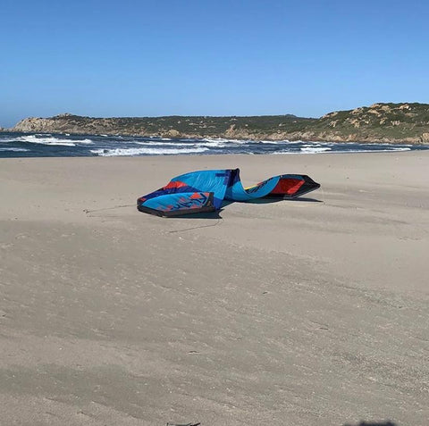 Blade kite on beach