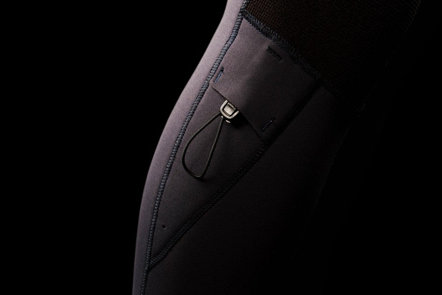 2021 Mystic Marshall wetsuit  black - close-up of key pocket feature