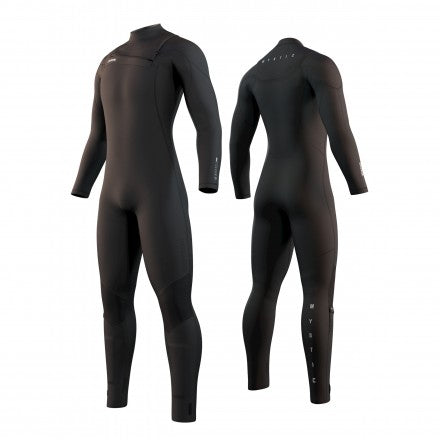 2021 Mystic Marshall wetsuit in black - features front and back external