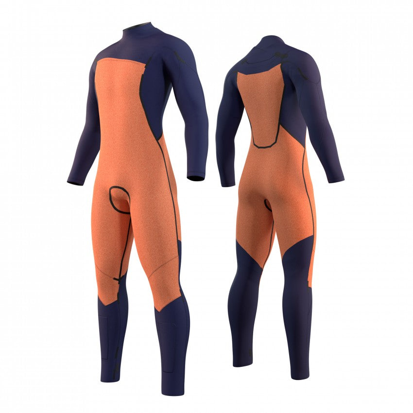 2021 Mystic Marshall wetsuit  black - features inside front and back features including Fox Fleece