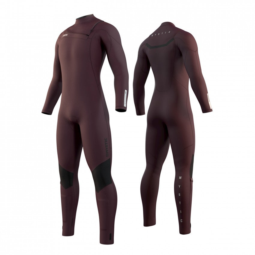 Depicts the front and back of the 2021 Mystic Marshall 5/3 winter wetsuit.
