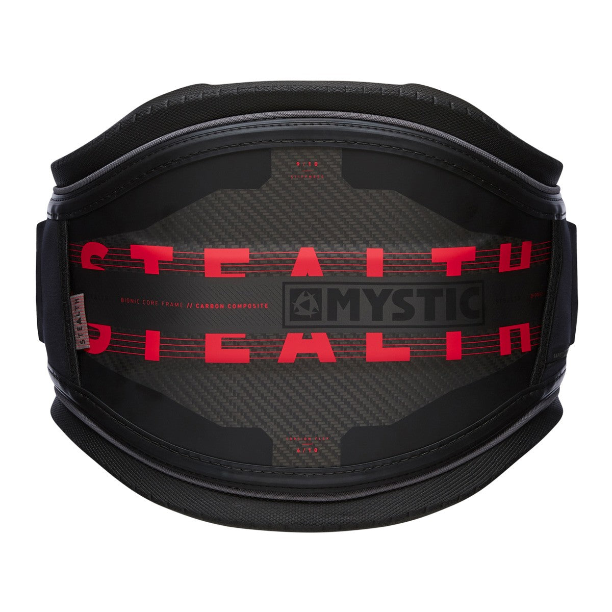 Mystic Stealth Waist Harness - Black/Red 2021