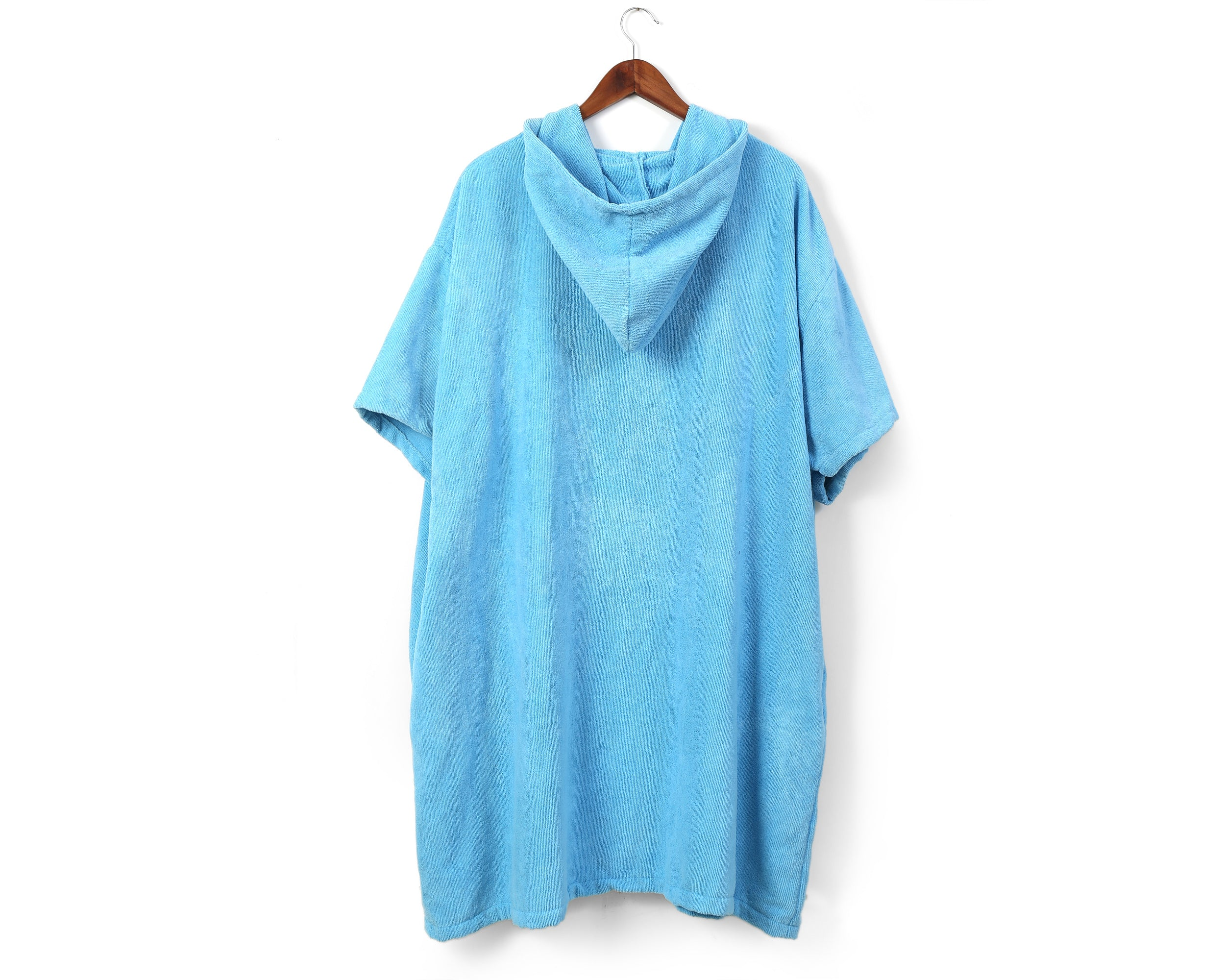Blue beach changing poncho