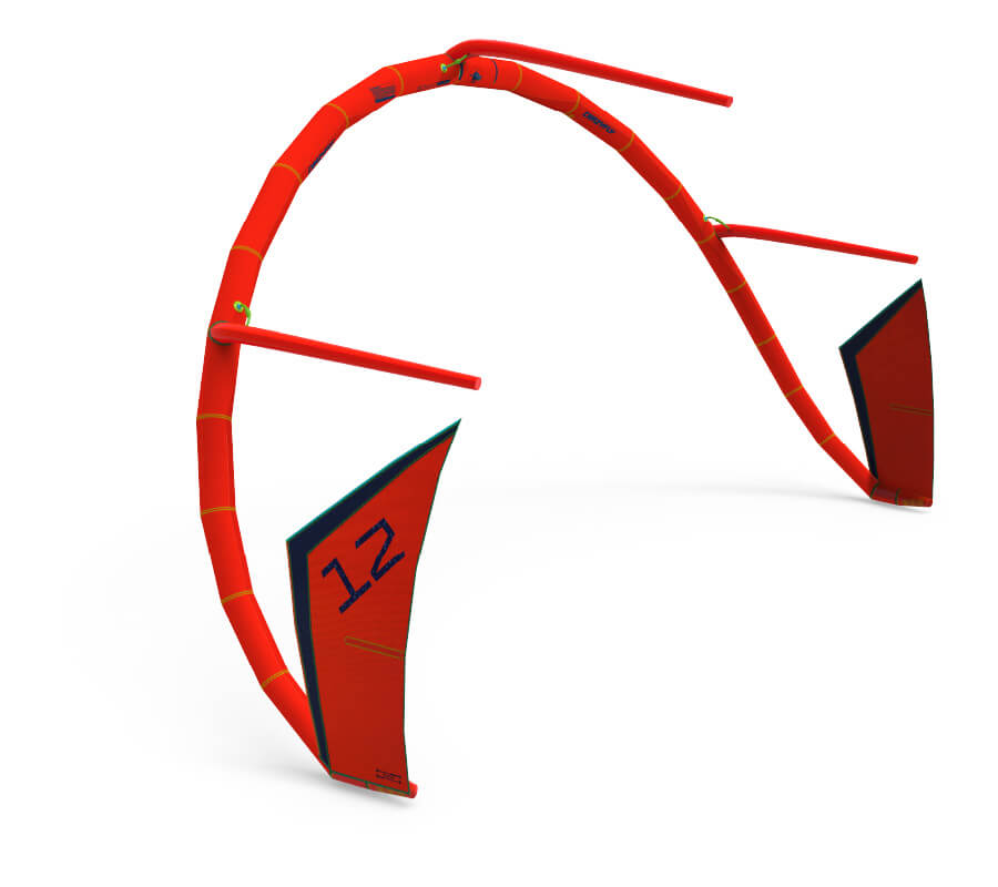 CrazyFly Sculp 2021 dacron frame in red
