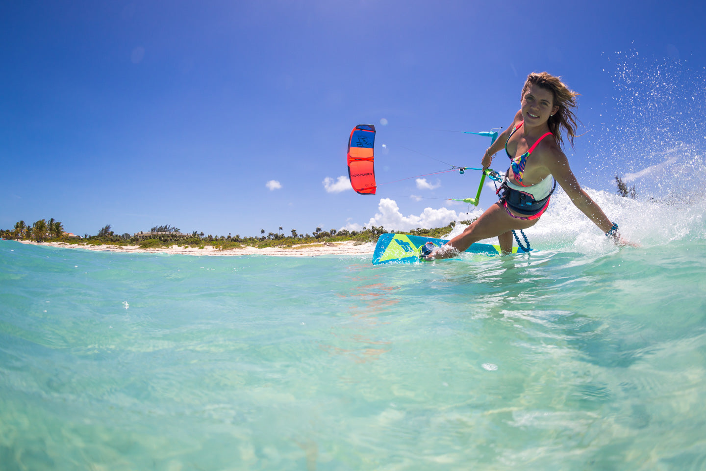 Light wind kite board
