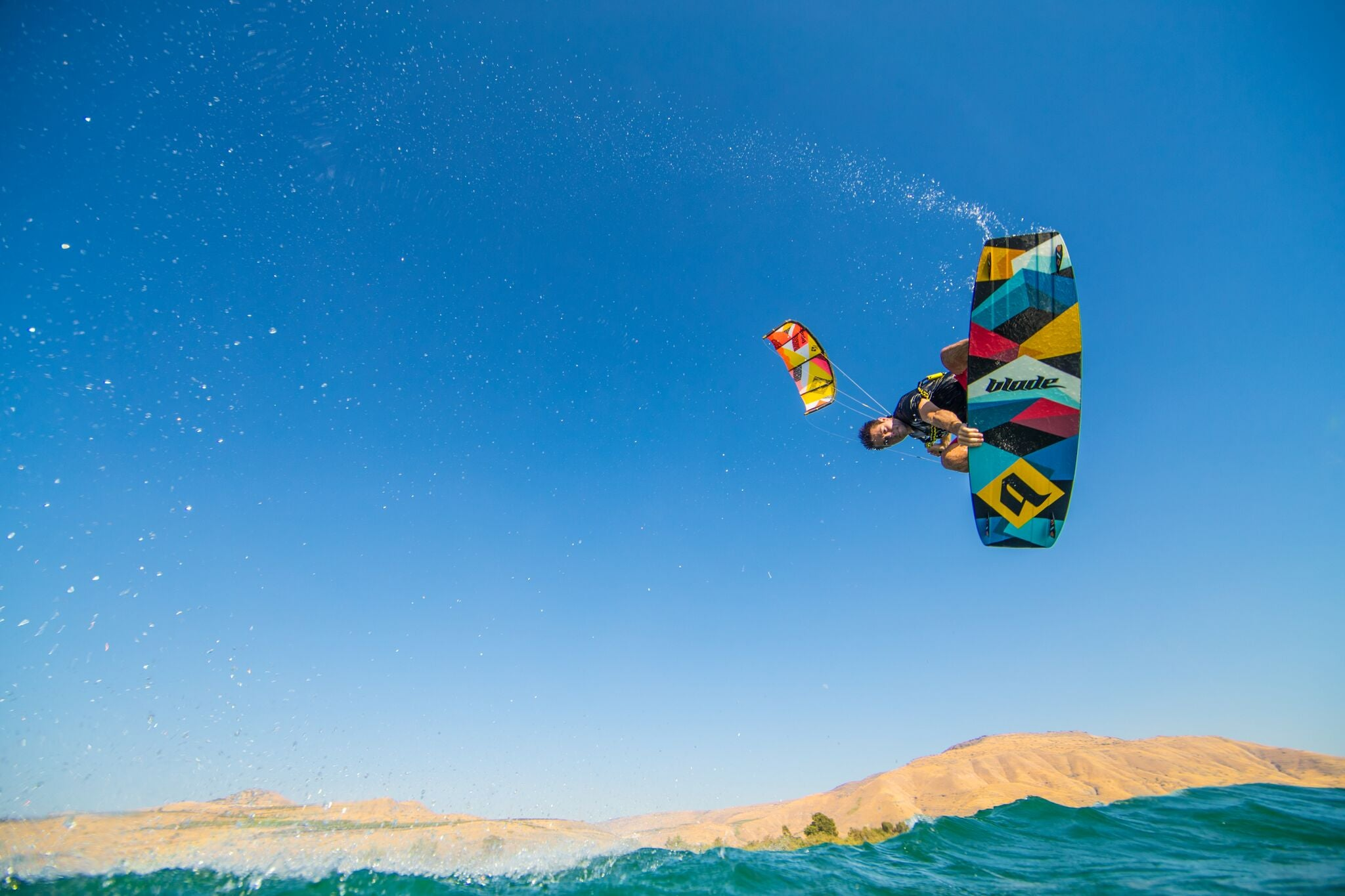 Freestyle / wakestyle kite - land the tricks