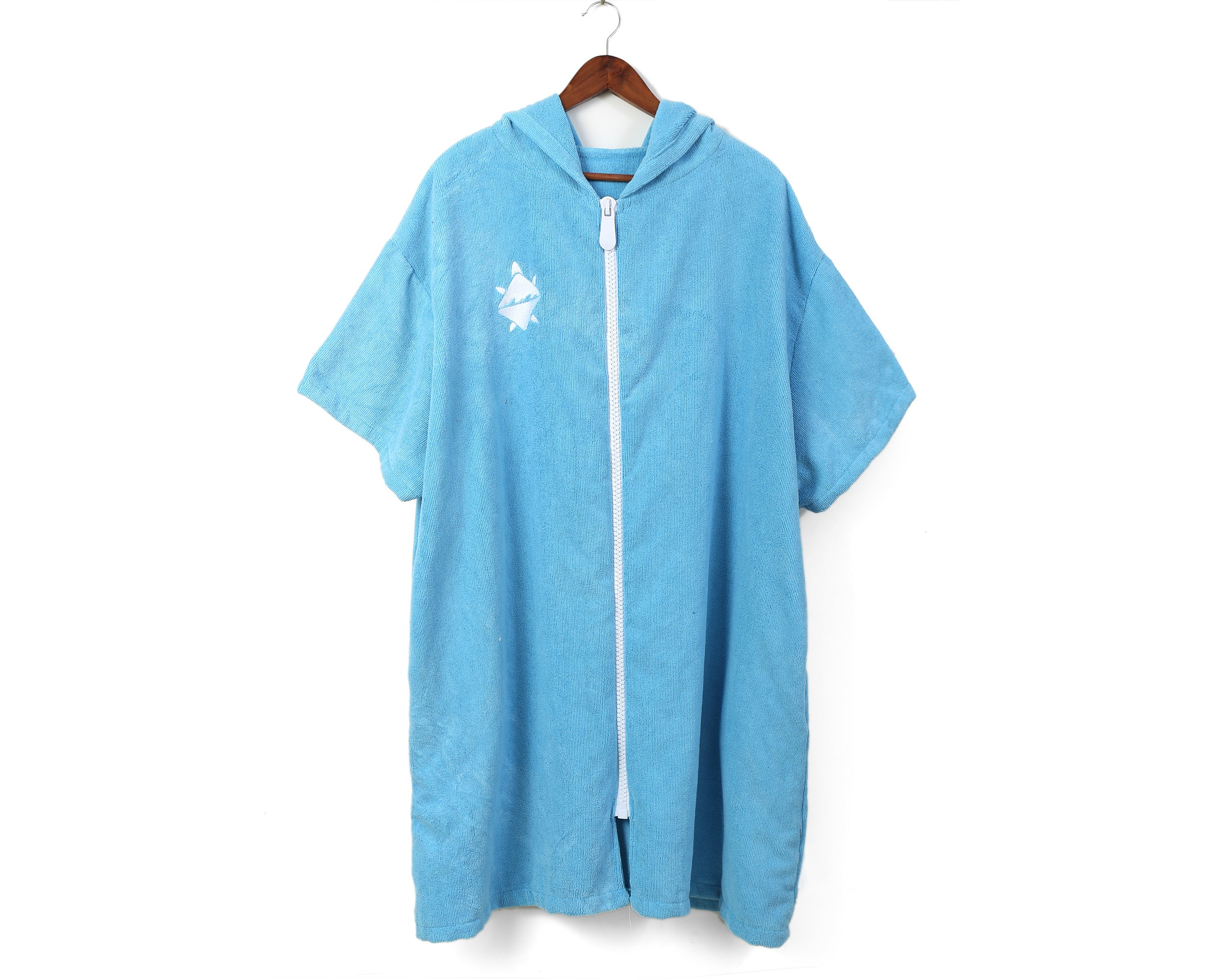Swell Shell Zip Poncho - Blue