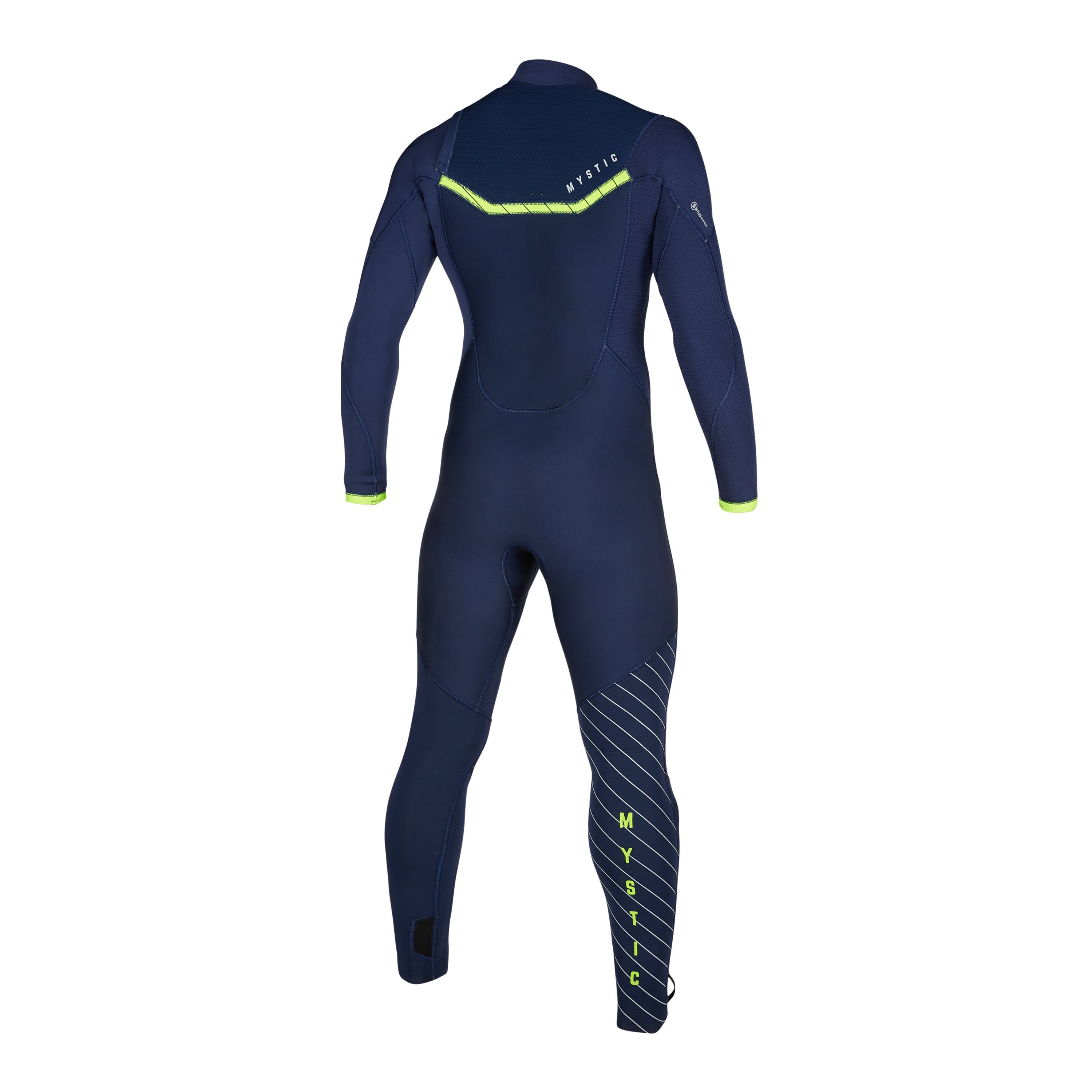 Marshall 4/3 Front Zip wetsuit Navy / Lime