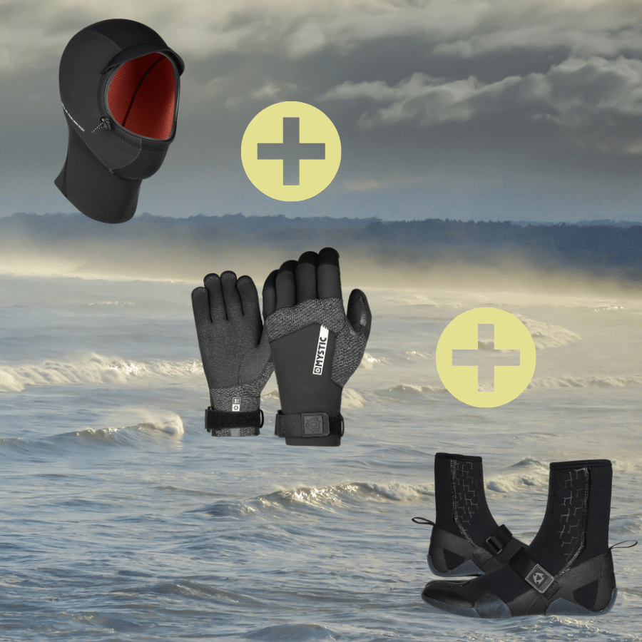 Mystic Marshall Boots, Gloves & Hood Package