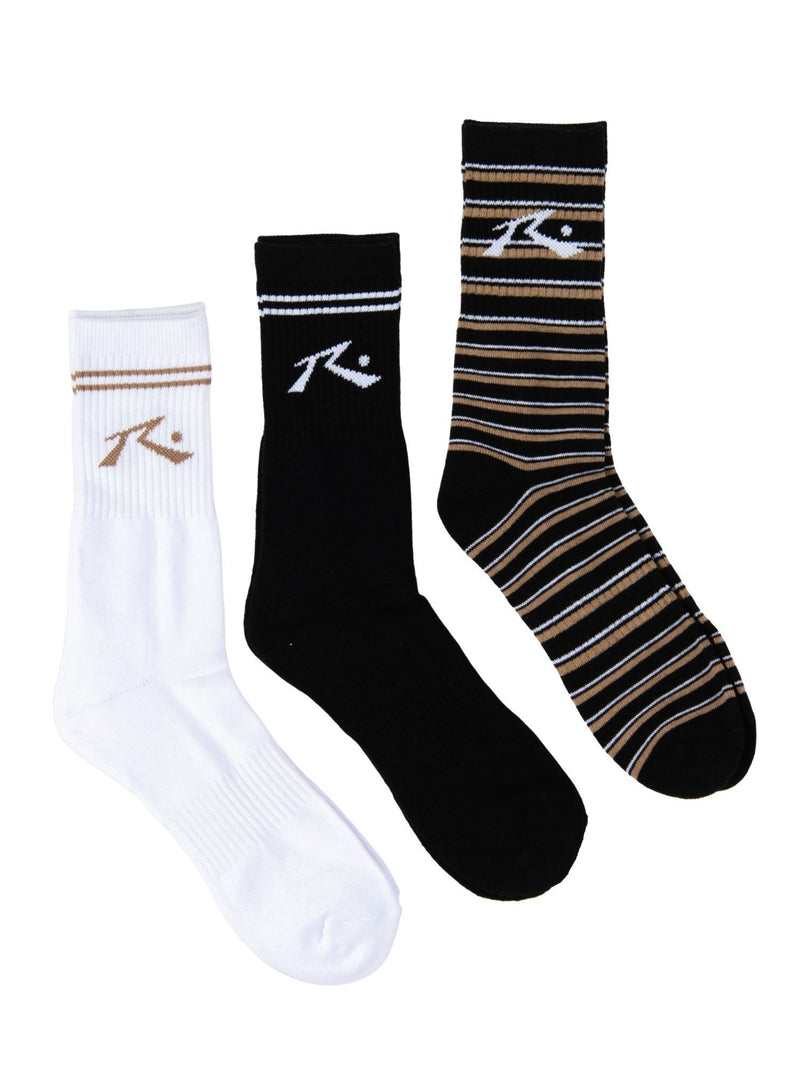 NEVER EVER MID CALF 3 SOCK PACK