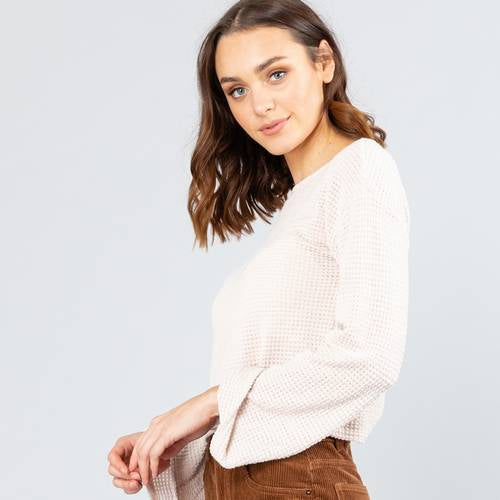 MELROSE LONG SLEEVE CROP TOP