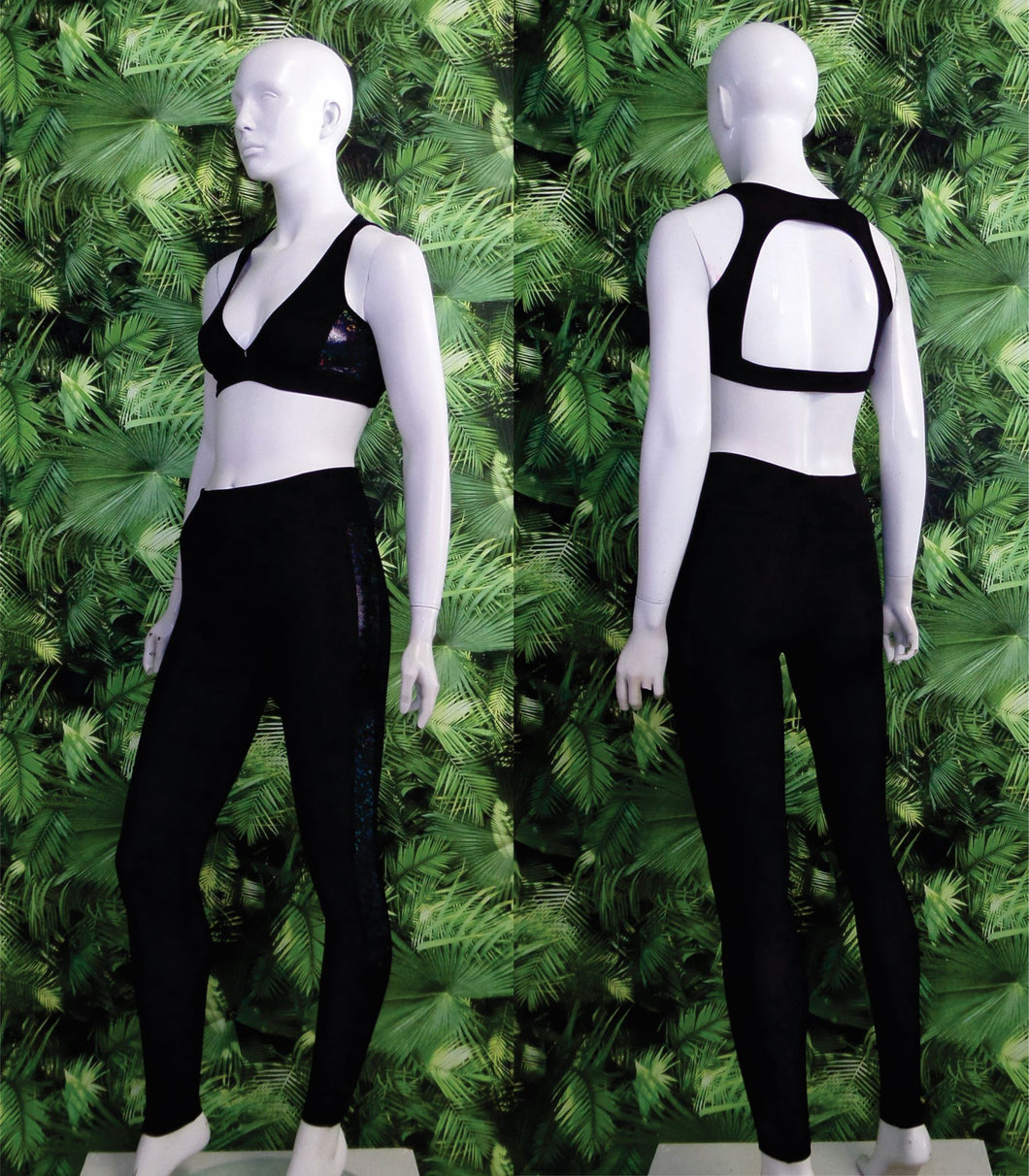 Ladies Workout Top Two Tone
