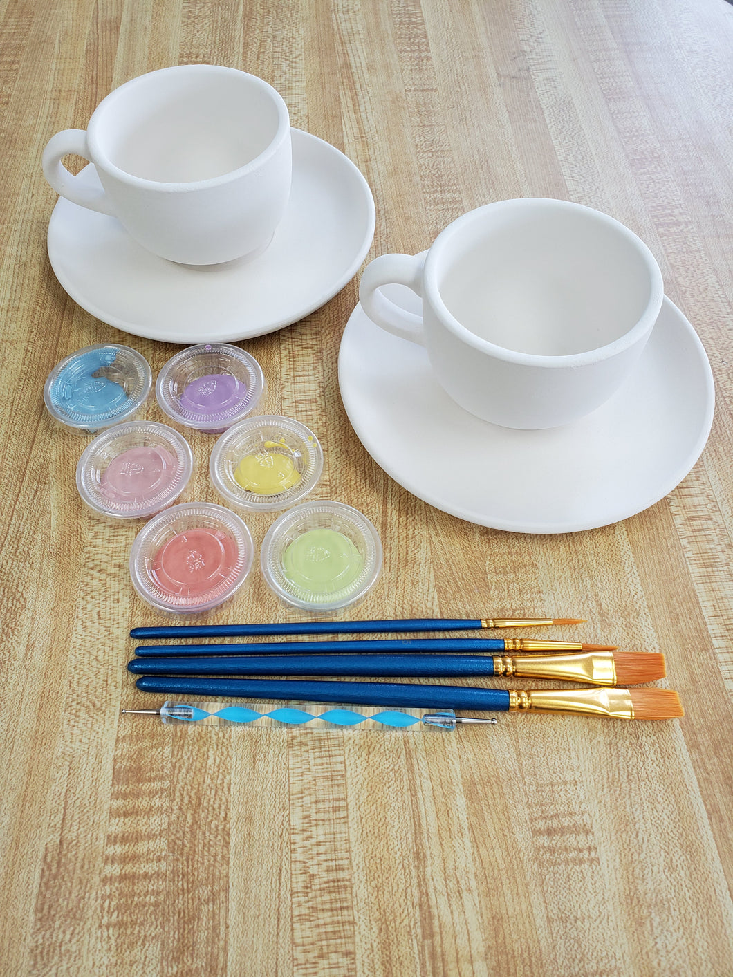 Tea Set Kit 2 cups and 2 saucers