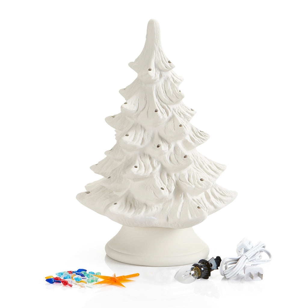 Christmas Tree with Base and Light Kit - 14 inch