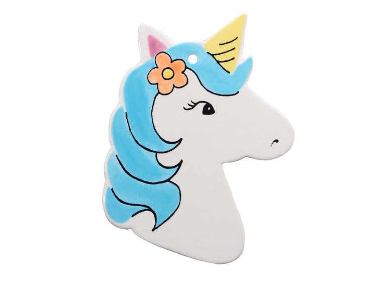 Hand Detailed Coloring Book Unicorn Party Ornament