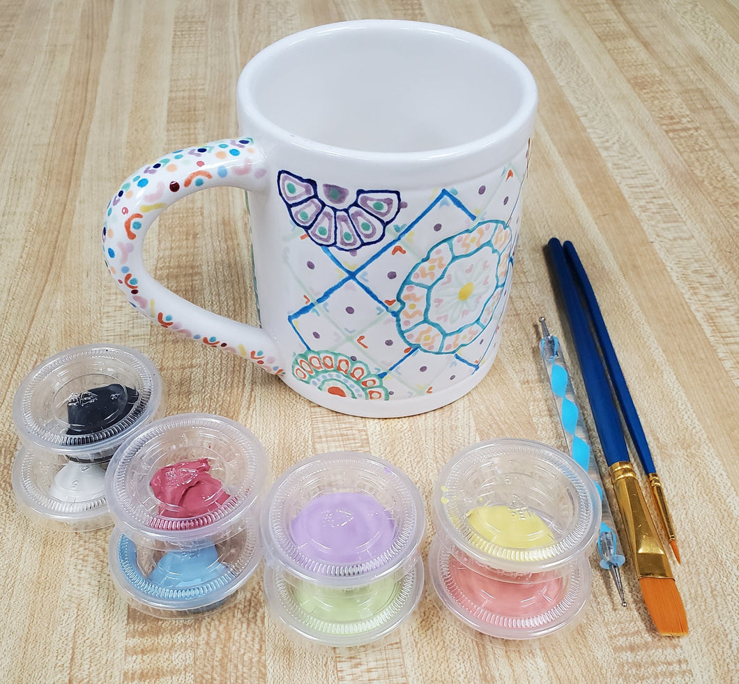Talavera Mug Kit- medium