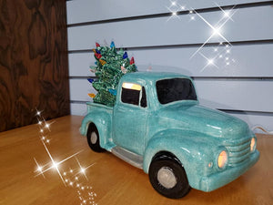 Vintage Truck with Tree Light-Up