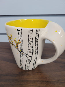 Special Handle Mug, unpainted bisque