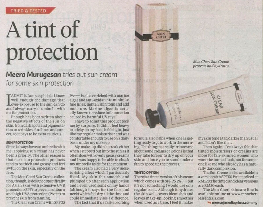 A tint of protection (New Straits Times) - 8 April 2015