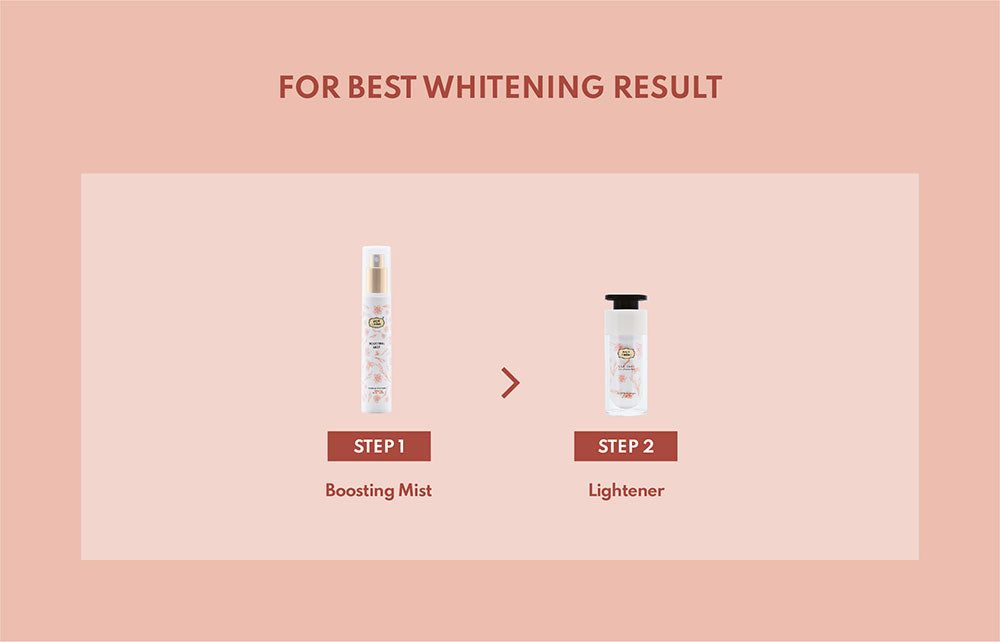 Boosting Mist best whitening result
