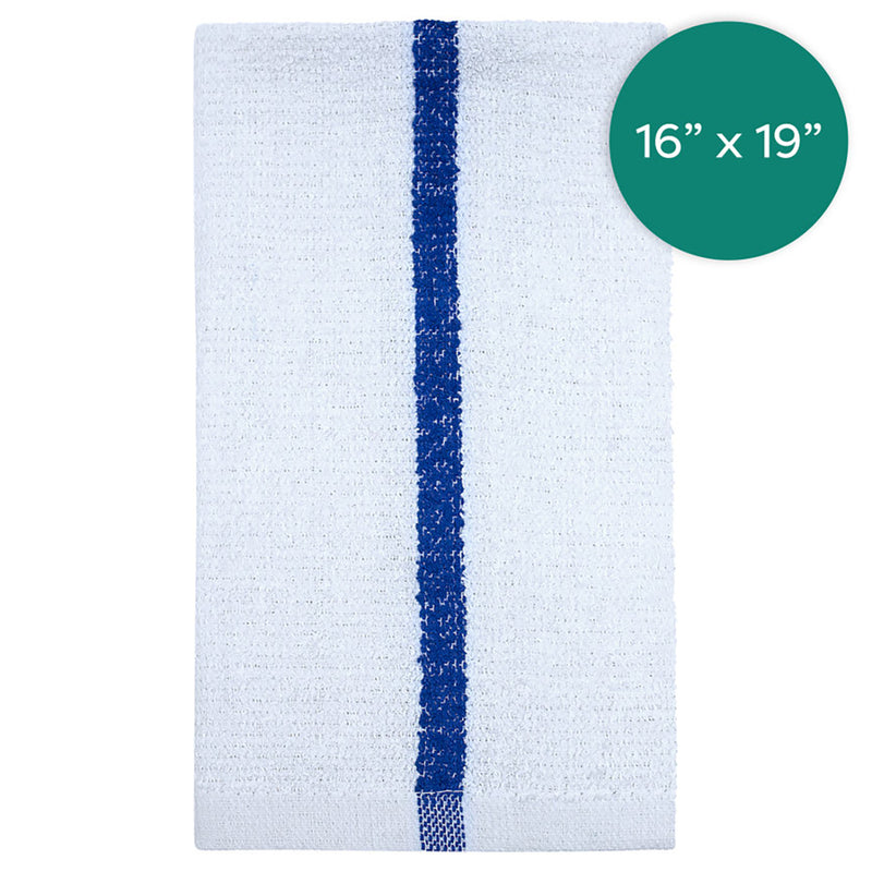 16X19 32 Oz Blue Stripe Terry Barmop