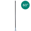 60 Inch Black Dust Mop Handle with Clip