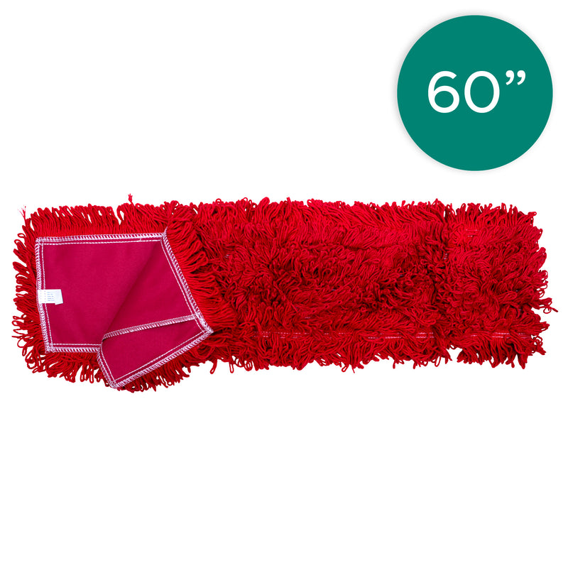 60 Inch Red Dust Mop