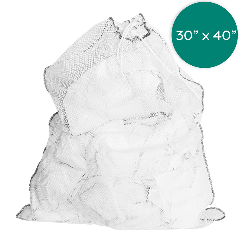 30X40  Inch White Net Laundry Bags