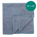 16X16 Inch 12 Pack Gray Microfiber Auto Cloth