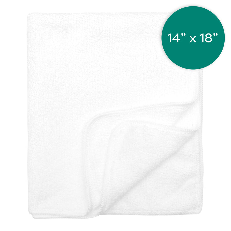 14X18 Inch with White Microfiber Barmop Terry with White Trim