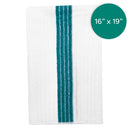 16X19 Inch Microfiber Ribbed Barmop with Green Stripe