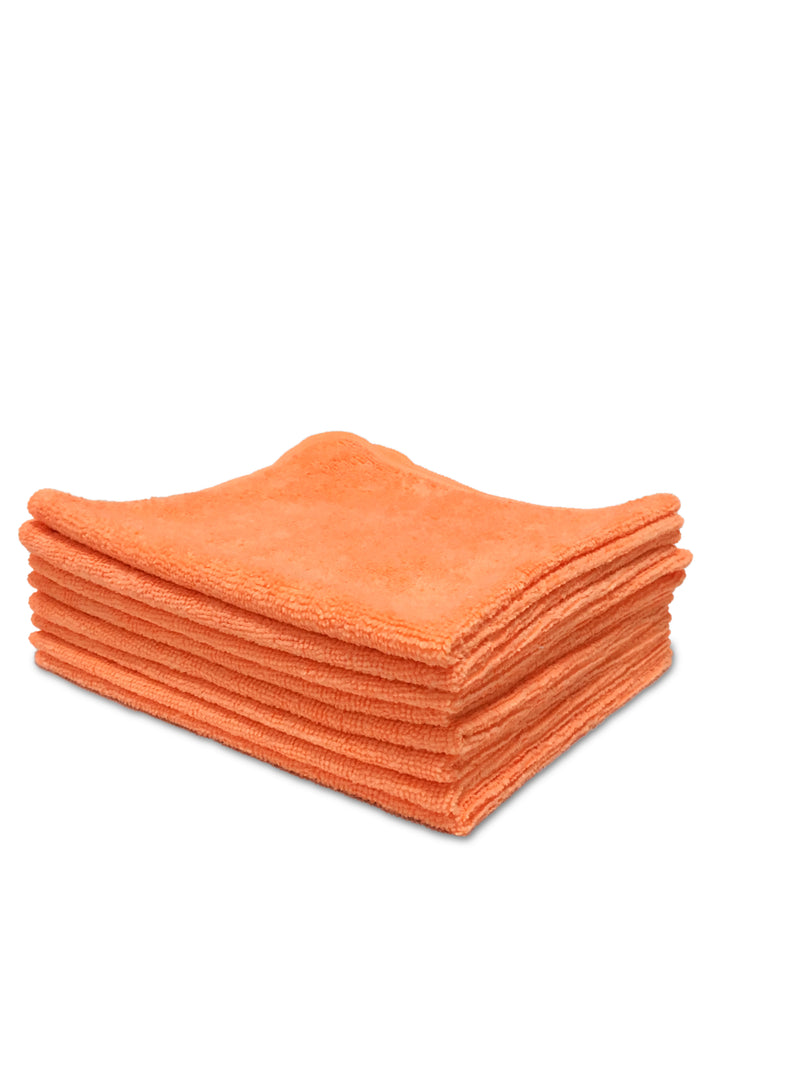 16X16 12pk Orange Microfiber Auto Cloth