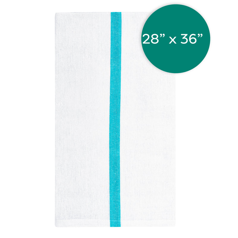 28X36 inch 46 Ounce Green Stripe Osnabu