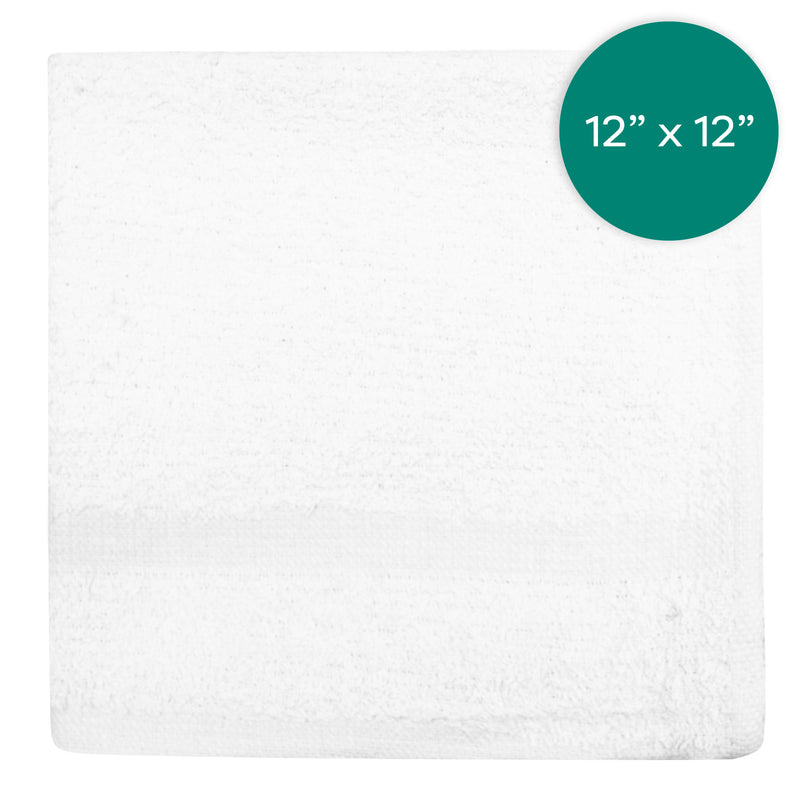 12X12 inch .75 Pounds 100%  Wash Cloth Hemmed