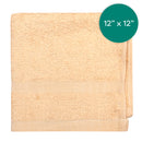 12X12 inch 1 Pounds Beige Sand Hemmed Wash Cloth