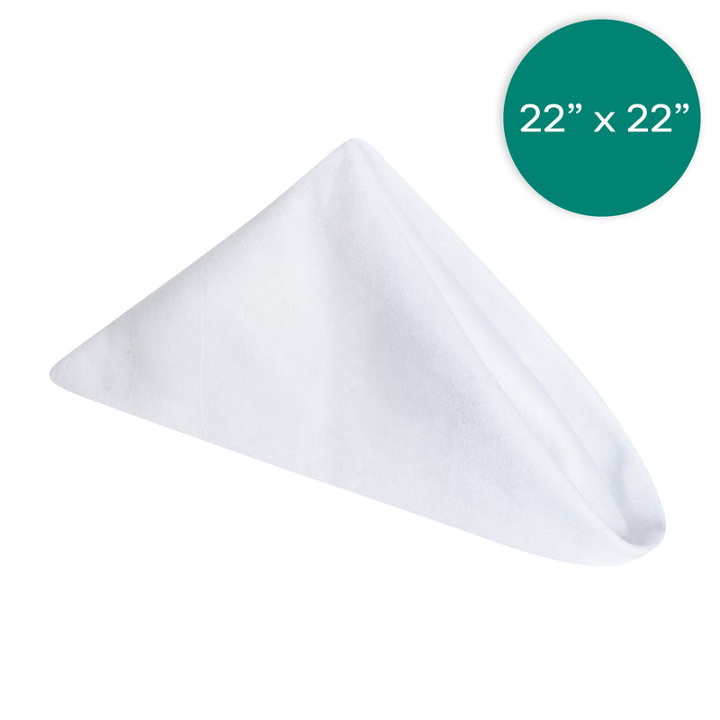 22X22 inch White Napkins with Satin Band