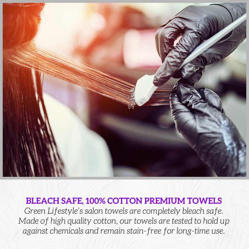 16X28 3lbs Black Bleach Safe Salon Towels
