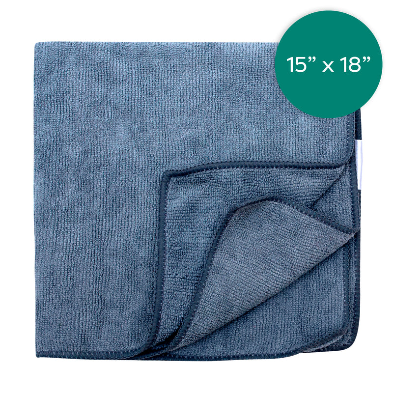 15X18  Inch Grey Microfiber Cloth