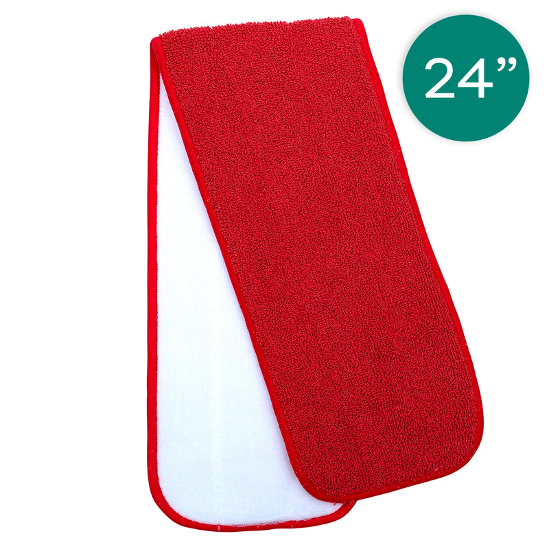24 Inch Red Microfiber Value Twist Pad