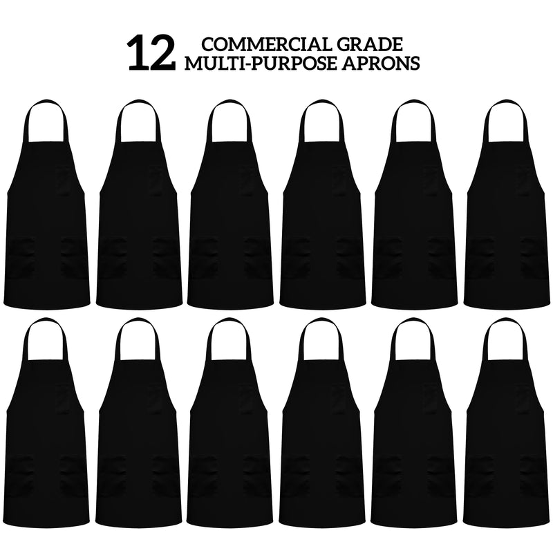 Black Spun Aprons 3 Pocket