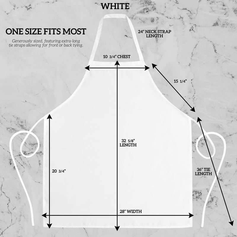 White Spun Apron No Pocket