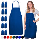 Royal Blue Spun Apron No Pocket