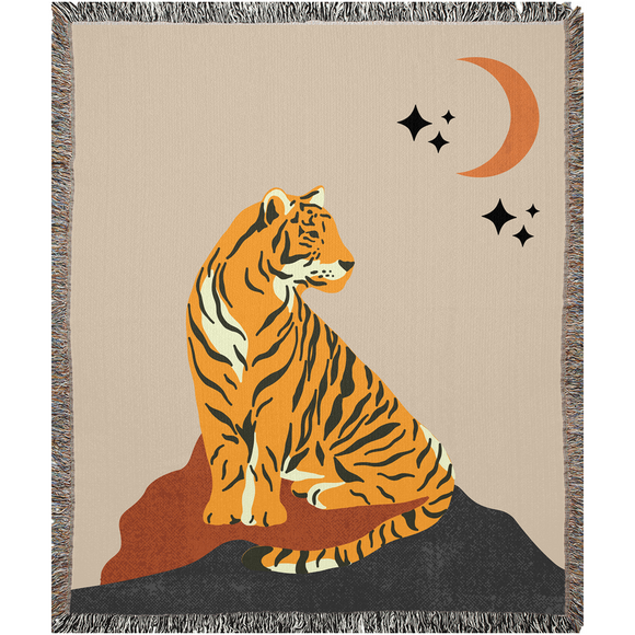 Night Warrior Woven Blanket
