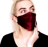 100% Charmeuse Full Silk Mask - Maroon