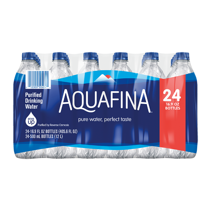 Aquafina Purified Water - (24) 16.9 oz Bottles