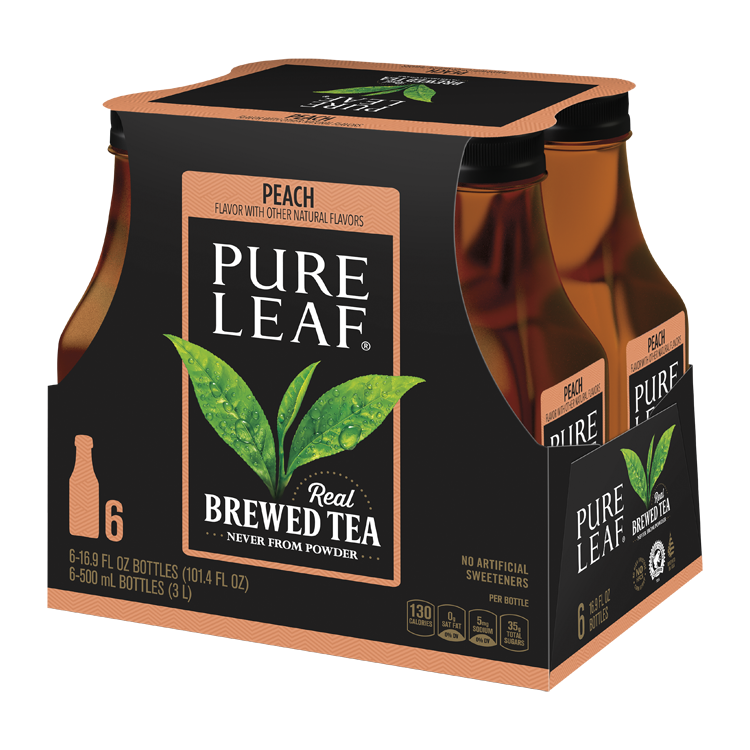 Pure Leaf Tea - (6) 16.9 oz Bottles Peach