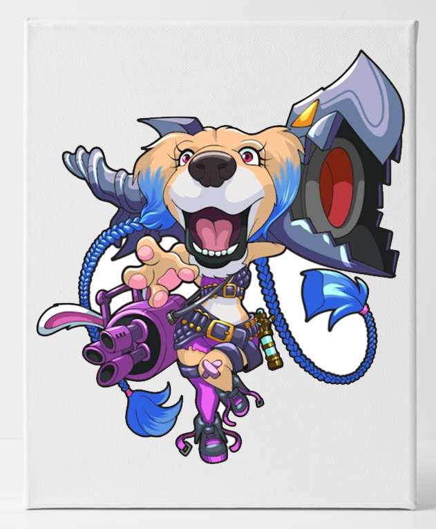League of Legends Custom Dog Canvas