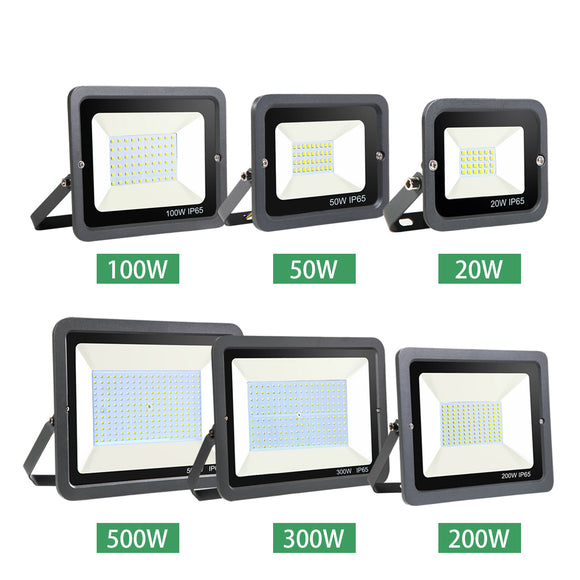 CMC, LED Wall Washer Spotlight Floodlight 10W 20W 30W 50W 100W 150W 200W 300W 500W Waterproof Reflector IP65 220V Outdoor Lamp
